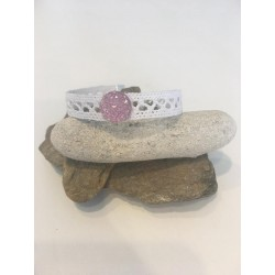 Bracelet coton blanc