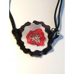 Bracelet plastique rouge...