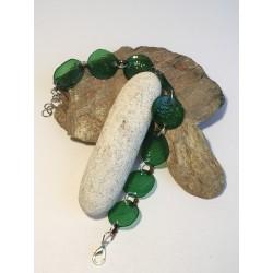 Bracelet plastique vert