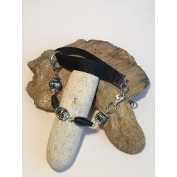 Bracelet papier et tissu noir